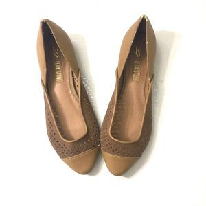 LEILA STONE Caramel Brown Slip On Shoes NWT